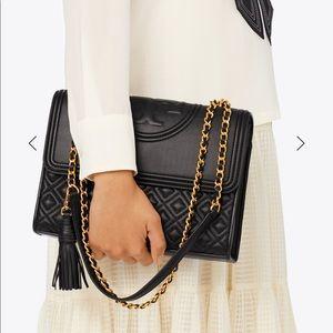 Tory Burch Fleming Convertible Shoulder Black Bag